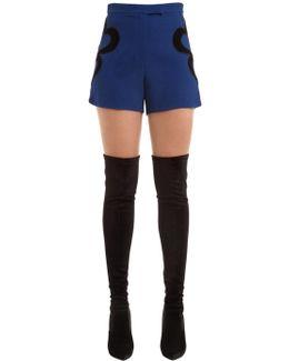 Crepe Shorts W/ Velvet Hearts