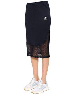 Osaka Piqué & Mesh Midi Skirt