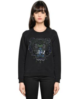 Tiger Embroidery Cotton Sweatshirt