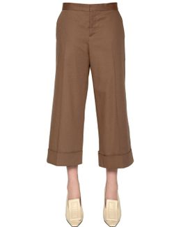 Cropped Cotton Drill Pants