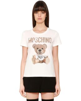 Cardboard Bear Cotton Jersey T-shirt