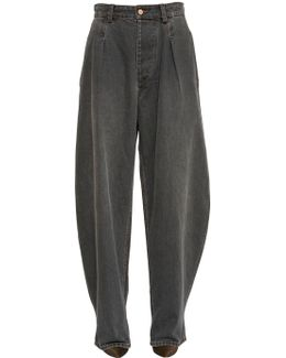 Extreme Oversize Cotton Denim Jeans