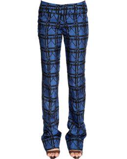 Plaid Jacquard Pants