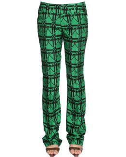 Checked Jacquard Pants