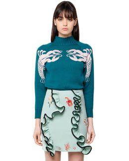Lobster Jacquard Wool Knit Sweater