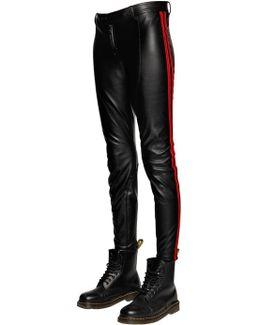 Faux Leather Biker Pants