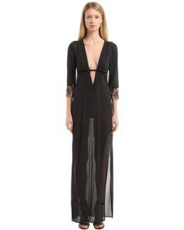 Hampton Court Silk Long Gown