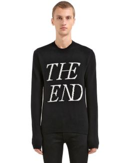 The End Wool Blend Jacquard Sweater