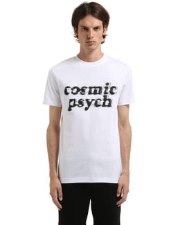 Cosmic Psych Print Cotton Jersey T-shirt