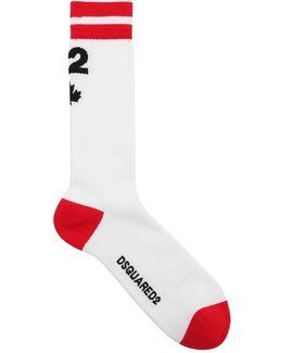 D2 Logo Maple Leaf Cotton Socks
