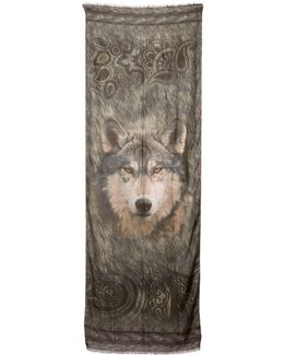 Modal & Cashmere Wolf Printed Scarf