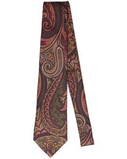 8cm Paisley Printed Silk Twill Tie
