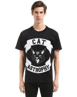 Cat Astrophy Patches Jersey T-shirt