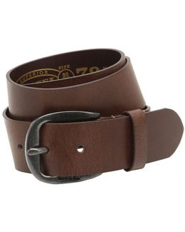 40mm Treated Leather Belt