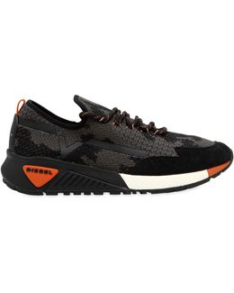 Camouflage Knit Running Sneakers