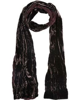 Leopard Print Silk & Washed Velour Scarf