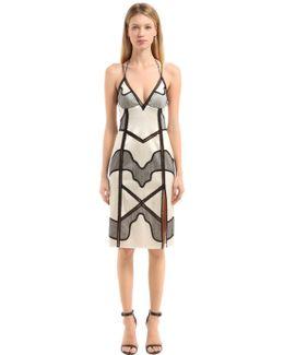 Silk Satin & Lace Slip Dress
