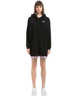 Logo Hooded Sweatshirt Dress