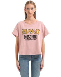 Underbear Printed Cotton Jersey T-shirt