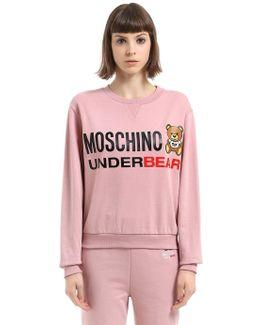 Underbear Print Cotton Sweatshirt