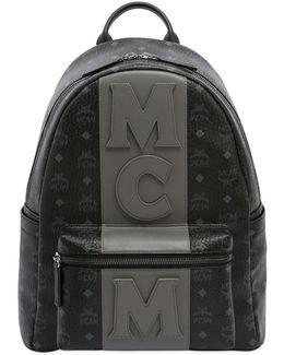 Medium Stark Faux Leather Backpack