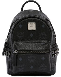 Mini Stark Faux Leather Backpack