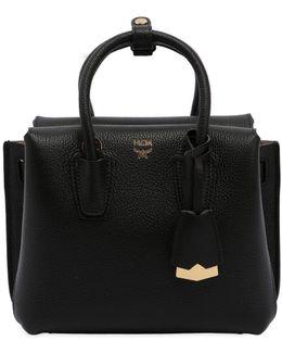 Mini Milla Leather Top Handle Bag
