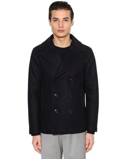 Wool Cloth Peacoat W/ Quilted Lining