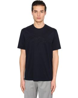 Signature Embroidered Jersey T-shirt