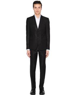 Textured Wool & Silk Suit