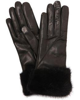 Leather Gloves W/ Mink Fur