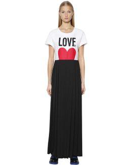 Love Printed Jersey Dress