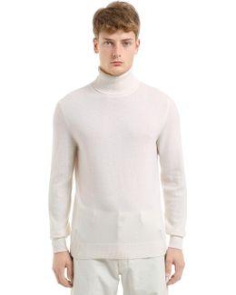 Wool & Cashmere Knit Turtleneck Sweater