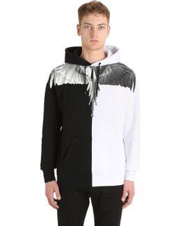 Aish Printed Hooded Cotton Sweatshirt