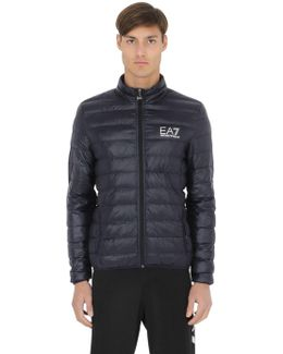 Nylon Packable Quilted Down Jacket