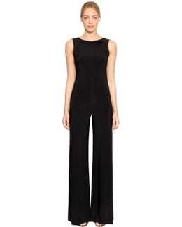 Low Back Sleeveless Jersey Jumpsuit