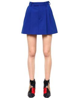 Sporty Tailored Mini Skirt