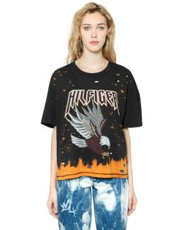 Eagle Bleached & Ripped T-shirt