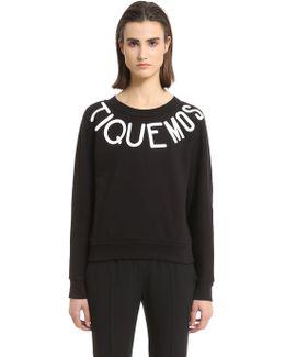 Rubberized Print Logo Cotton Sweatshirt