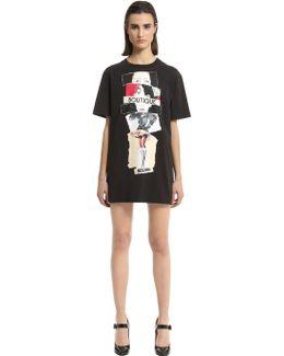 Printed Cotton Jersey T-shirt Dress