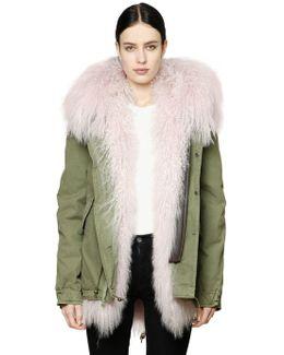 Canvas Parka W/ Animal Friendly Fur