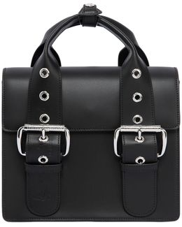 Alex Two Tone Leather Bag With Buckles