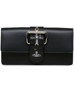 Alex Leather Clutch With Buckle