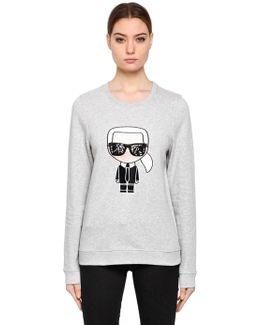Karl Ikonik Cotton Sweatshirt