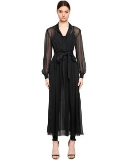 Ikonik Silk Chiffon Jumpsuit Dress