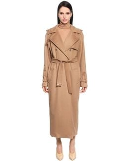 Camel Cloth Trench Coat