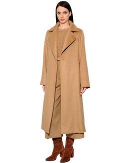 Brushed Camel Coat W/ Belt