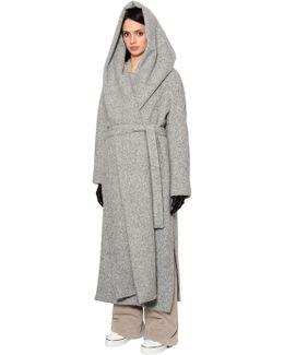Oversized Hooded Alpaca Long Coat
