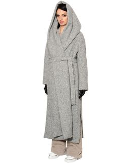 Oversized Hooded Alpaca Long Coat