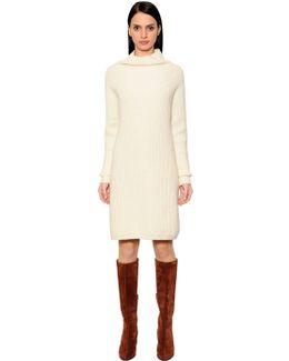Wool & Cashmere Rib Knit Dress